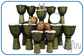 Large Rope Tuned Djembe Pack