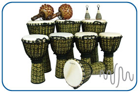 Medium Rope Tuned Djembe Pack